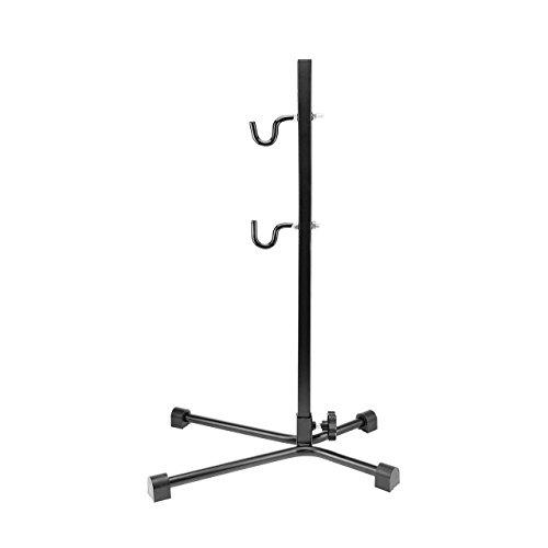 WELLGRO® Fahrradständer - Stahl, schwarz, sicherer Stand, Haken mit Kunststoffummantelung