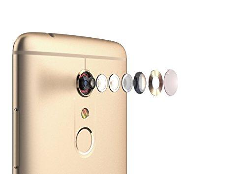 """ZTE Axon 7 - Smartphone libre de 5,5"""" (4G, Qualcomm Snapdragon 820 , 4 GB RAM, almacenamiento interno de 64 GB, Bluetooth, WiFi, Android), color dorado"""