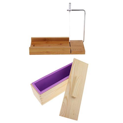Laib Brot Slicer (Hellery Mehrzweck Holz Seifenform Laib Cutter Silikonform, Edelstahl Draht Käsehobel, Handgemachte Seifen Machen Werkzeuge, Für Home Küche DIY Handwerk)