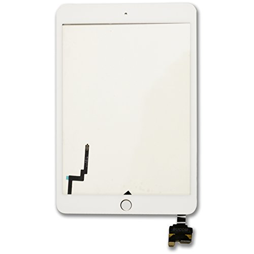 Display Glas für Ipad Mini 3 IC Chip Touch Home Button Screen Front Scheibe Digitizer weiss A1599 A1600