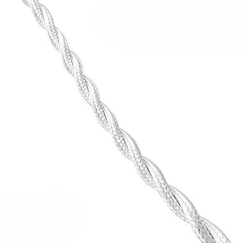 Parallel Textil geflochten 2x 2,5mm weiß