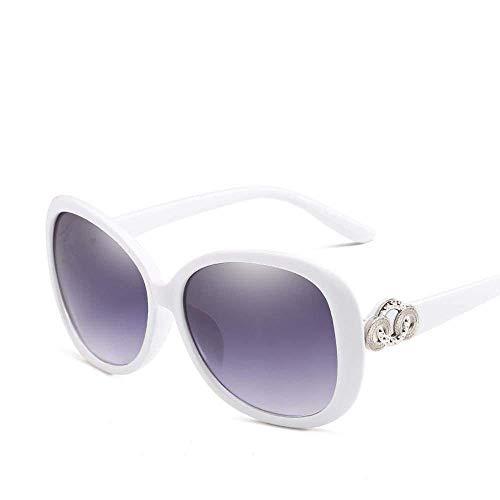 Yuany Herren Sonnenbrillen Damenmode Europäische und Amerikanische Art Damensonnenbrillentrend Sonnenbrille mit großem Gestell allgemeine Anti-UV-Retro-Sonnenbrille