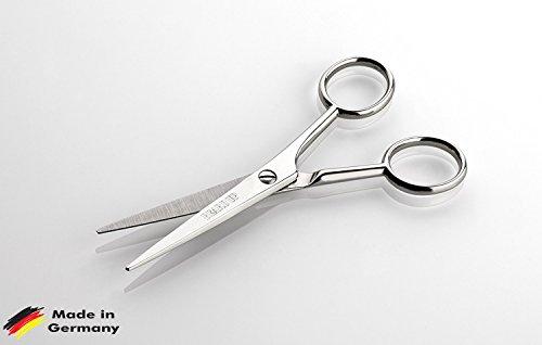 Premium Bartschere / Haarschere | extreme Schärfe für den perfekten Schnitt | spitzes Design für Detailarbeiten | leichtes Styling und professionelle Bartpflege | ergonomischer Aufbau für optimales Handling | Friseurschere | Made in Solingen