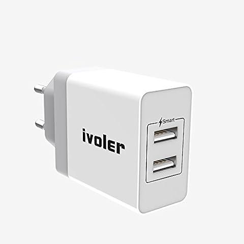 iVoler Chargeur USB Secteur Universel 2 Ports avec Technologie Qsmart