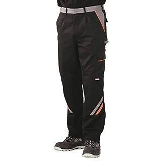 4556 Planam Bundhose Visline, schwarz/orange/zink 52,Schwarz/Orange/Zink