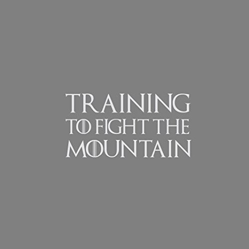 GoT: Training to Fight the Mountain - Stofftasche / Beutel Schwarz
