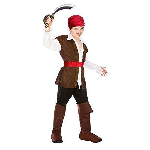 Caribbean Pirate (5-7) Fancy Dress Kids Costume