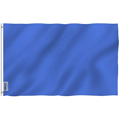 Anley einfarbige Flagge, Textil, blau, 3 X 5 Ft -