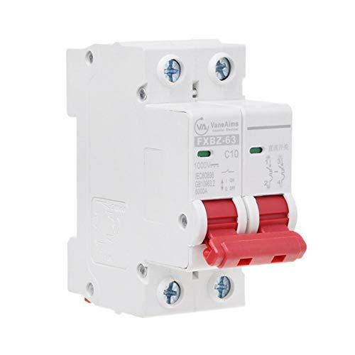 DLQHWY Leistungsschalter 2P Dc 1000V Solar Mini Leistungsschalter 10A / 16A / 32A / 50A / 63A Dc Photovoltaik Mcb -