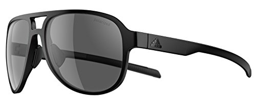 Adidas Brille Sonnenbrille PACYR ad33 Damen Herren Einheitsgröße (black matt - 9200 grey polarized)