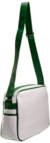 Gola Redford Borsa sportiva a righe, White/Apple Green (Bianco) - CUB 498 White/Apple Green