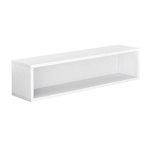 [en.casa]® Armoire variable moderne - système d'étagére murale - 60x15x15 cm - blanc