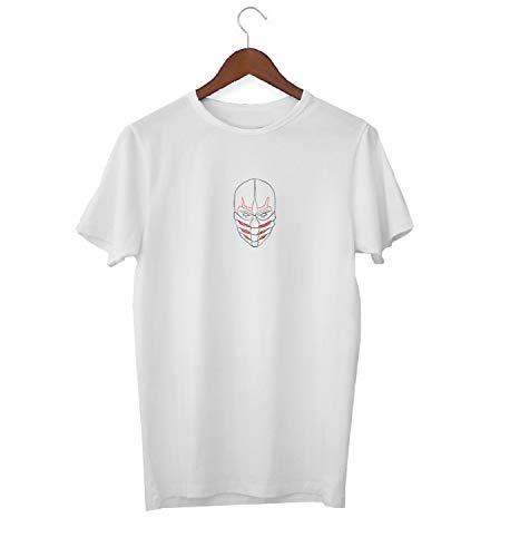 on Tribal Mask_KK017520 Shirt T-Shirt für Männer Herren Tshirt for Men Gift for Him Present Birthday Christmas - Men's - Large - White ()