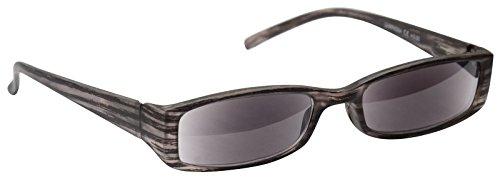 UV Reader Sonne Leser Lesebrille Sonnenbrille Damen Herren Grau UVSR004+ 3,00