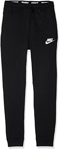Nike B NSW AV15Herren Trainingshose, Kinder XS schwarz / (schwarz / weiß) (Trainingshose Kinder Nike)