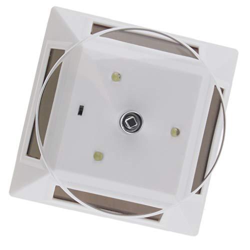 SM SunniMix Solarbetriebener drehender Ausstellungsstand mit Licht Schmuck Uhren Fingerring Display Stand Drehplatte Schmuckständer - Silber (Schmuck-display-silber)