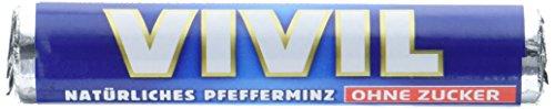 Preisvergleich Produktbild Vivil Natürliches Pfefferminz ohne Zucker Rollen Blau,  30er Pack (30 x 29 g)