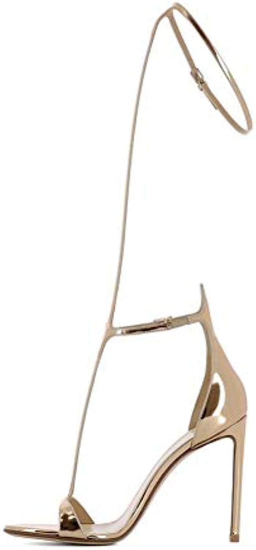WHL.LL Da donna appuntito Fine tacco alto sandali Tipo T Cinturino alla caviglia Doppia fibbia Tacco alto sandali... | Per Vincere Elogio Caldo Dai Clienti  | Scolaro/Signora Scarpa