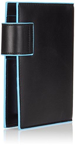Piquadro AG1077B2/N Blue Square Organizer, Nero, 16 cm Nero