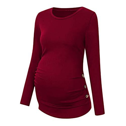 2a29dda006cec DAY8 Vêtement Femme Enceinte Hiver Pas Cher a la Mode Chemise Femme  Enceinte Atuomne Haut Femme