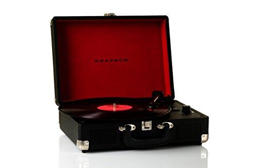 grausch rps101tocadisco vinilo tourne-disques maleta portátil con 2altavoces integrados