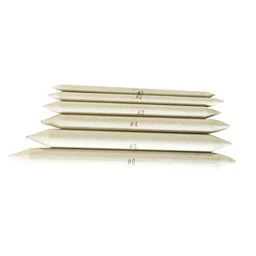 perfk 6 Stück Papierwischer Set Kunst Skizze Zeichnung Werkzeug für Pastellkreiden Zeichen Pastell