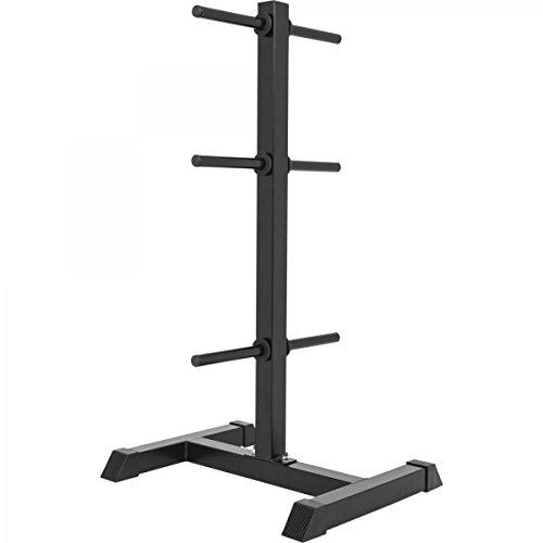 GORILLA SPORTS® Hantelscheibenständer mit 6 Scheibenaufnahmen 30/31 mm Weiß/Schwarz - bis 200 kg belastbar