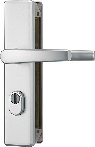 ABUS Tür-Schutzbeschlag KLZS714 F1 aluminium mit Zylinderschutz & beidseitigem Drücker eckig 20731