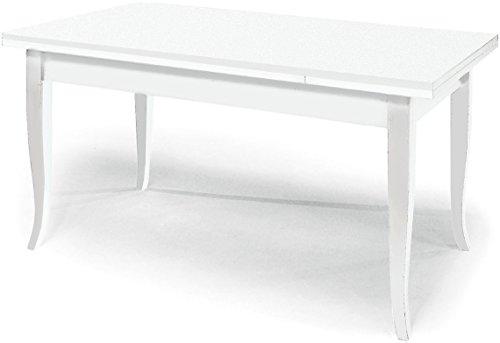 ARREDinITALY Tavolo Rettangolare 180X90 con Piano E Gambe in Vetro Trasparente