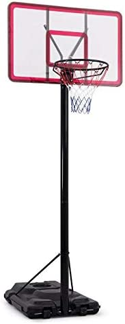 IDEALT Portable Height Adjustable Basketball Hoop Stand On Wheels, 44 Inch Backboard, Basketball Goals Outdoor