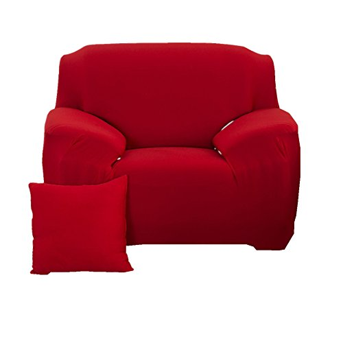 fanjow Farbe Stretch Arm Elastic Sessel Bettüberwurf Polyester Spandex Stoff, Stretch Schonbezug für Stuhl, Liebesschaukel Sofa ohne Kissen, rot, 1-seat Chair (Arm-stuhl-seat-kissen)