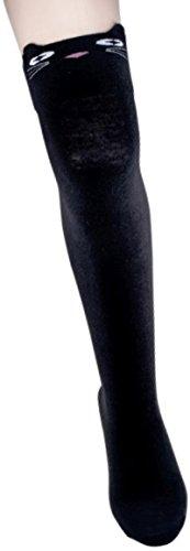calcetines-pur-overknees-gato-1-par-schwarz-katze-talla-unica