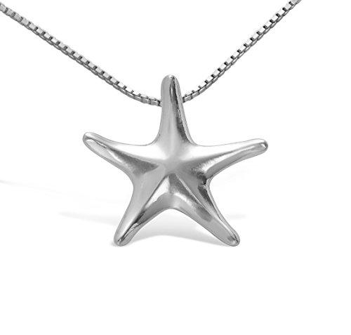 Schmuck-Anhänger Silber Stern aus massivem 925 Sterling Silber #1614