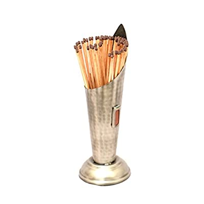 Silver Torch Fireside Striker Pad Safety Matches Holder Canister - H30cm