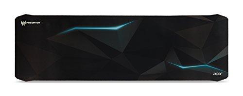 Acer Predator Gaming Mauspad (reibungsarme Faseroberfläche, selbstleuchtendes Predator Logo, Unterseite aus Naturkautschuk, leicht zu reinigen, Größe XL, Spirits Design)
