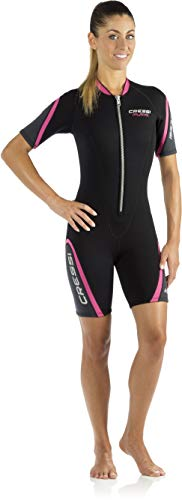 Cressi Damen Playa Lady Shorty Diving und Snorrkeling Neoprenanzug 2.5mm, Schwarz/Pink, M/3