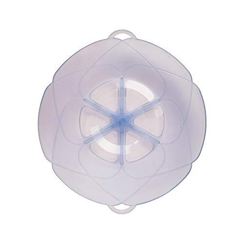 Kochblume vom Erfinder Armin Harecker M 25,5 cm eisblau | Überkochschutz für Topfgrößen von Ø 14 bis 20 cm | Set mit Microfasertuch!