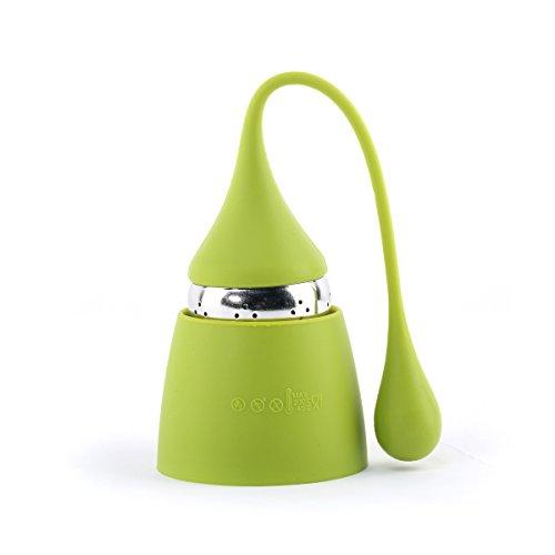 Musiclily Silikon Henkel Tee Ei Schmutzfänger Filter mit Edelstahl Ball für Kannen oder Tassen (Set aus 4)