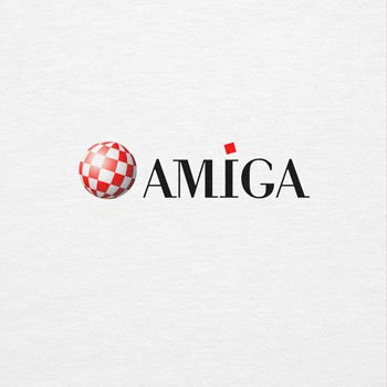 NERDO - Old Amiga Logo - Herren Langarm T-Shirt Weiß