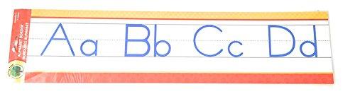 Lehrbaum Manuskript Alphabet Bulletin Back to School Board Kreative Streifen Schule Büro Ressourcen Scholastic Teacher Lehrer Bulletin Trim Wall Border Decal Klassenzimmer Dekoration Rot/Gelb Punkte -