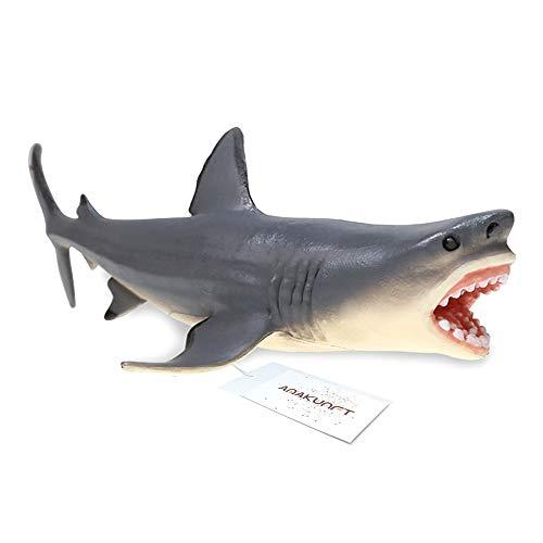 Amakunft Megalodon Hai Aquarium Ornament, Carcharodon Megalodon Fische Tank Dekoration, Robustem Kunstharz Sicher Alle Fische & Aquatic Pets die Meg Spielzeug Kinder & Home Dekorationen