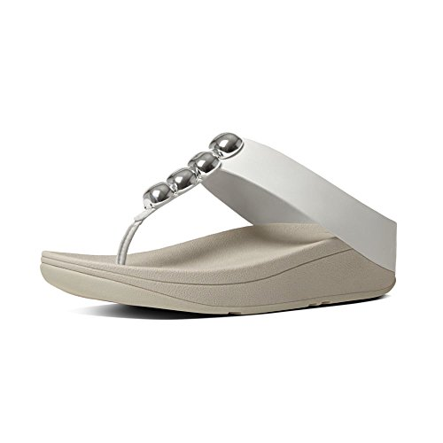 Bianco Urbano Fitflop Rola Sandali UK4 Urban White