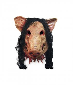 w Maske Verkleidung Halloweenmaske Karneval Kölle Halloween Maske Schwein (Halloween Schweine Maske)