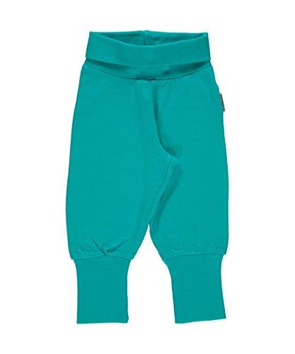 Maxomorra Baby Pants Rib TURQUOISE 62/68 (Cuff Capri Hose Jeans)