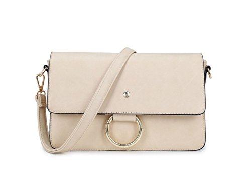 LeahWard® Damen Mode Essener Berühmtheit Faux Fur Schulter Handtasche Herrlich Qualität Kunstleder Umhängetasche CWRJ150538 CWB326A-Apricot