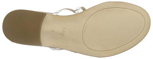 HÖGL - 1- 10 1173, Scarpe col tacco con cinturino a T Donna Bianco (Bianco (0200))