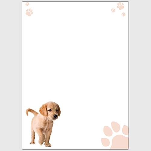 """Designpapier \""""Tiere - Welpe\"""" - DIN A4 / 25 Blatt"""