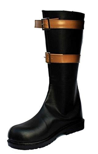 Cosstars One Piece Dracule Mihawk Anime Cosplay Schuhe Stiefeletten Stiefel Lace Up Ballet Slippers