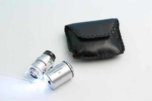 GOLDIFLORA OPTICS - MG 9882 - LED TASCHEN MIKROSKOP - 60x fache Vergrösserung - MIT UV LAMPE - inkl. Batterien - INKL. GRATIS ZUBEHÖR IM UVP-WERT VON 9,95 Euro (Uvp Uv-lampe)