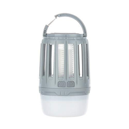 WYL Camping LanternLED Moskito Lampe Portable Outdoor Zelt Licht Taschenlampe Wandern Multifunktions Outdoor Wasserdicht Silent Kronleuchter,Gray -
